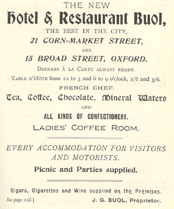 Advert for Buol's