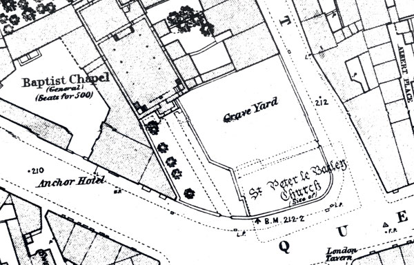 Bonn Square area in 1870