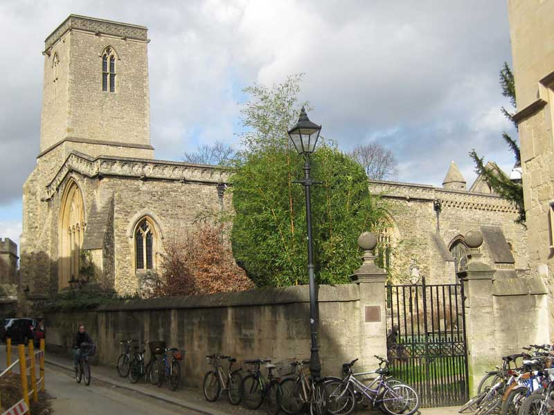 St Peter-in-the-East from Queen's Lane