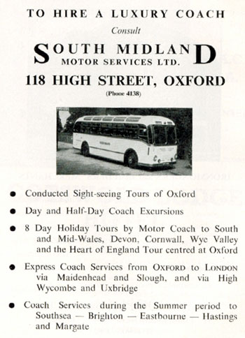 South Midland Motor Services advertisement