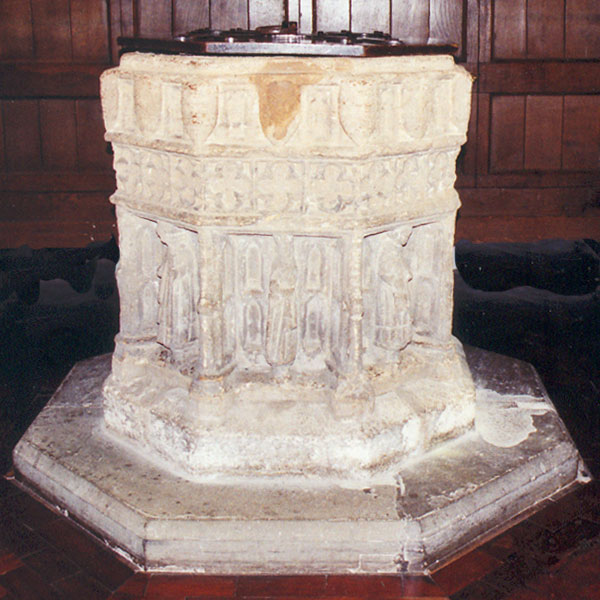 Font from St Martin's Church