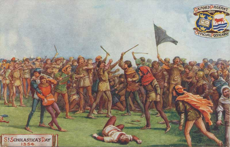 St Scholastica Day battle between 'town' and 'gown' from the Oxford History website