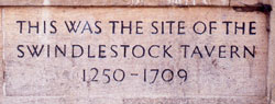 Swindlestock inscription