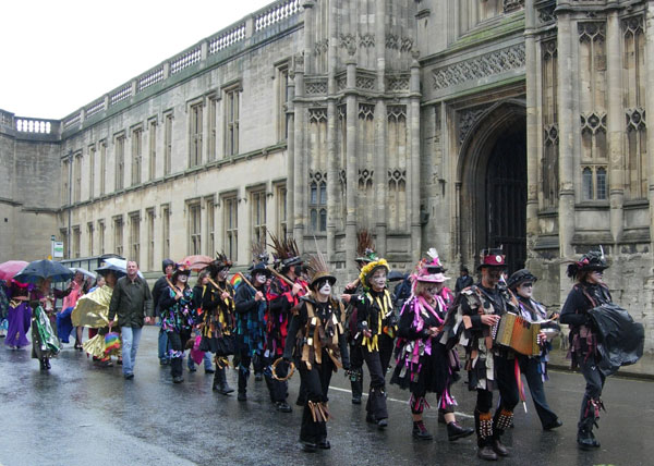 Carnival Band Sol Samba outside Christ Church