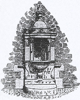 Drinking fountain drawing