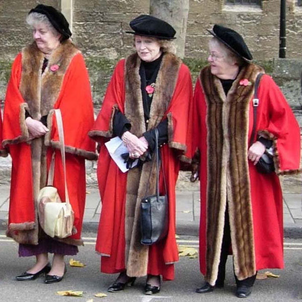 Three lady Lord Mayors
