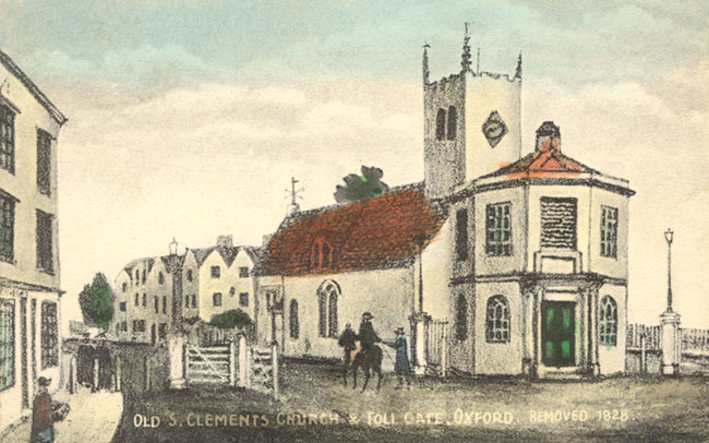St Clement's original church, The Plain