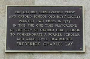 Oxford Preservation Trust inscription