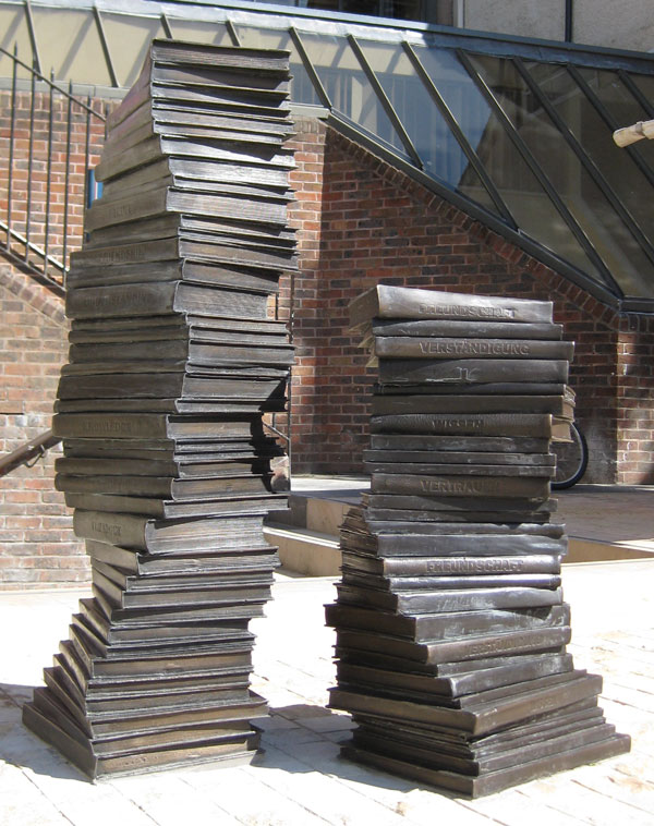 Books sculpture
