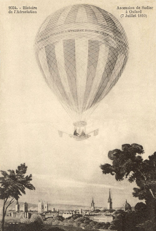 Sadler's balloon ascending