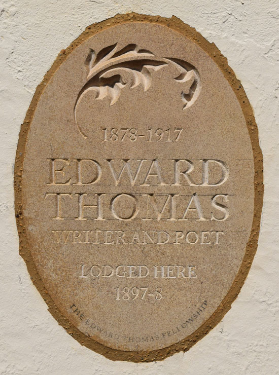 Edward Thomas plaque