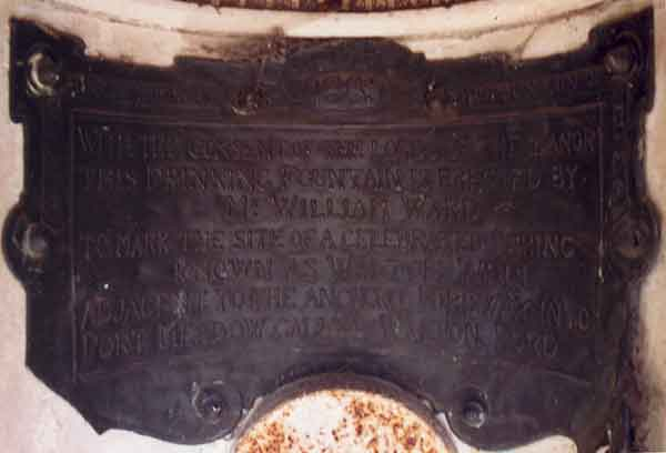 Inscription in Walton Well Road