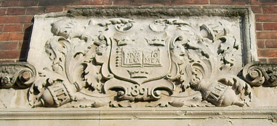 Inscription over Clarendon Press Institute