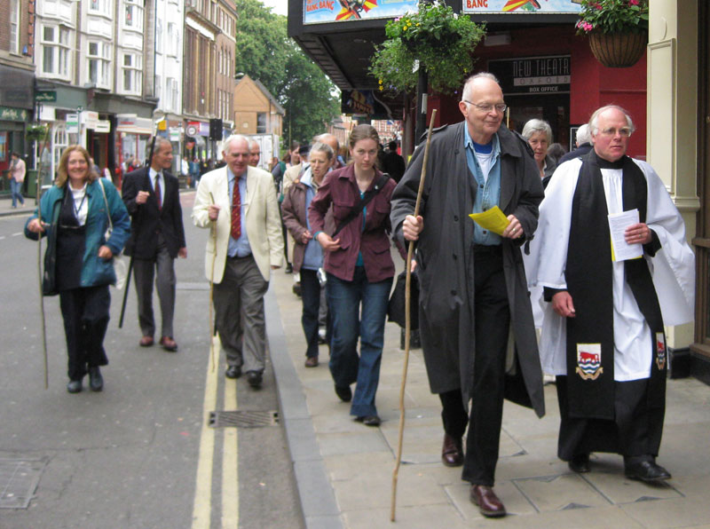 Beating bounds in George Street 2009
