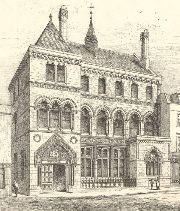 Architect's drawing of 1879