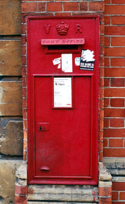 Letter box in Holywell