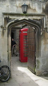 Phonebox at Magdalen College